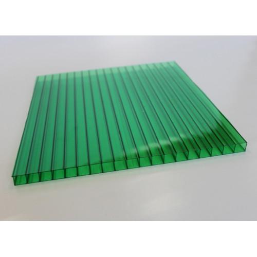 Сотовый поликарбонат Italon (зеленый), 6мм, м2