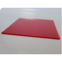 Сотовый поликарбонат Polygal (красный), 6мм, м2