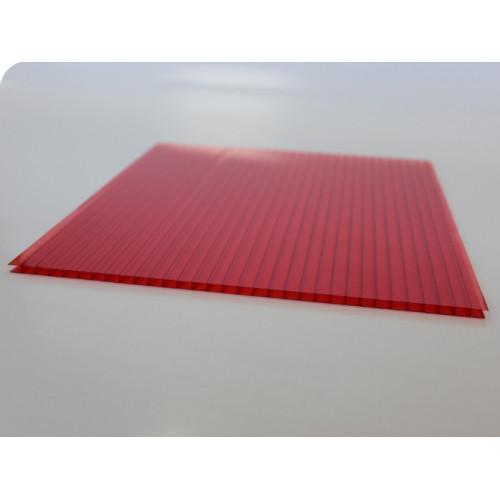 Сотовый поликарбонат Vizor (красный), 8мм, м2
