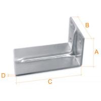 Кронштейн оцинкованный 1,8 мм 50х68х150 мм, шт