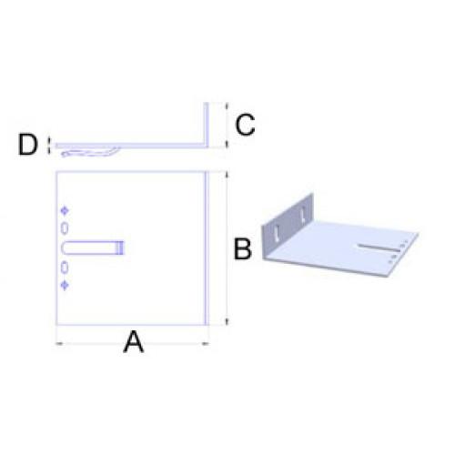 Кронштейн самозажимной алюмин. 3.5мм, 160х100х40мм, шт