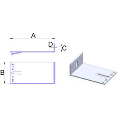 Кронштейн самозажимной алюмин. 4мм, 180х140х40мм, шт