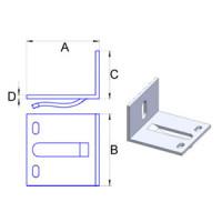 Кронштейн самозажимной алюмин. 3мм, 60х60х40мм, шт