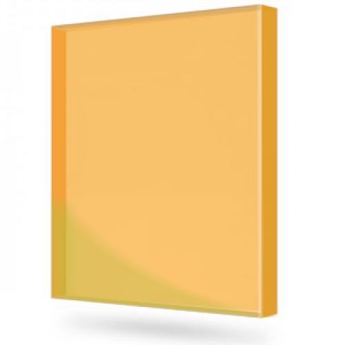 Купить Монолитный поликарбонат Marlon (оранжевый), 12 мм, 2050 х 3050 мм, шт