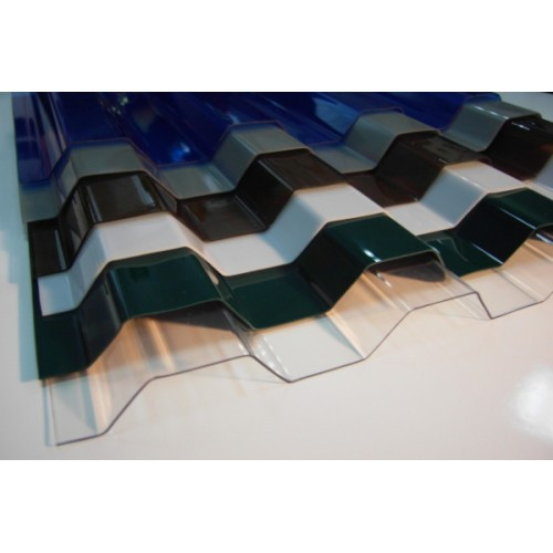 Профилированый монолитный поликарбонат Borrex (цветной), 0.8мм, м2